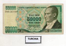 Turchia - 1970 - Banconota Da 50.000 Lire Turche - Usata -  (FDC9826) - Turchia