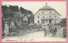 """68 - DIEDOLSHAUSEN - LE BONHOMME - Restauration """" Zum Goldenen Löwen """" - Nicolas MINOUX - Attelage - Frankrijk"""