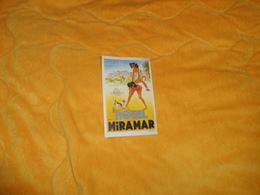 PUBLICITE ETIQUETTE HOTEL MIRAMAR MALAGA. / DATE ?. - Hotel Labels