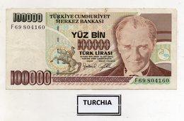 Turchia - 1970 - Banconota Da 100.000 Lire Turche - Usata -  (FDC9827) - Turchia