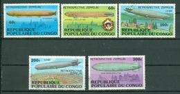 Congo 1977 Yv 448/462 Obl./used Rétrospective Zeppelin - Congo - Brazzaville