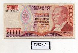 Turchia - 1970 - Banconota Da 20.000 Lire Turche - Usata -  (FDC9828) - Turchia