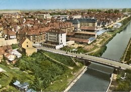 CPSM Dentelée - BISCHHEIM (67) - Vue Aérienne Du Quartier Près Du Canal Dans Les Années 60 - Francia