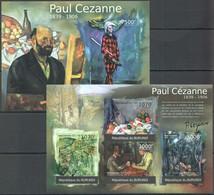 X463 !!! IMPERFORATE 2012 BURUNDI ART PAINTING PAUL CEZANNE 1KB+1BL MNH - Sonstige