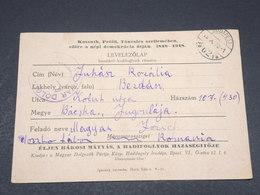 HONGRIE - Carte En Franchise De Maramarossziget En 1948 - L 17253 - Briefe U. Dokumente