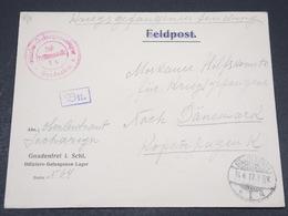 ALLEMAGNE - Enveloppe Du Camp De Prisonniers De Gnadenfrei En 1917 - L 17254 - Covers & Documents
