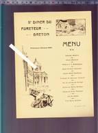 Menu Bretagne -  5eme Diner Du Fureteur Breton - 25 Janvier 1909 - Cochon - Presidence D'étienne Port - Menu