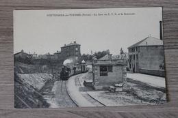 PONTCHARRA SUR TURDINE (69) - LA GARE DU C.F.B.ET LE COMMODO - Pontcharra-sur-Turdine