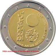 ESTONIA 2 EURO 2018 - The Centennial Of The Independence Of Estonia - UNC Coin - Estonia