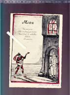 Menu - Des Officiers, Mi Careme 1929 - Arlequin Sérénade Mandoline à Sa Belle - Menus