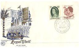 (102) Australia FDC Cover - WCS Cover - 1963 - Royal Visit - Premiers Jours (FDC)