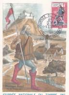 Très Belle Carte Maximum Journée Du Timbre 1962 - Maximum Cards