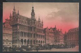 +++ CPA - BRUSSEL - Coucher De Soleil Sur BRUXELLES - La Grand'Place  // - Brussel Bij Nacht