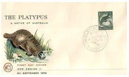 (102) Australia FDC Cover - WCS Cover - 1959 - Platypus - FDC