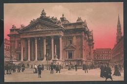 +++ CPA - BRUSSEL - Coucher De Soleil Sur BRUXELLES - La Bourse    // - Brussel Bij Nacht