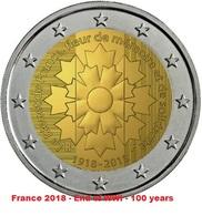 Frankreich - 2 Euro Gedenkmünze 2018 - Bleuet De France - France