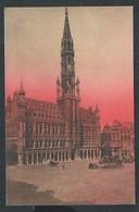 +++ CPA - BRUSSEL - Coucher De Soleil Sur BRUXELLES - Hôtel De Ville  // - Brussel Bij Nacht