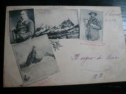 Cervino Aosta-Alpinismo Guide Alpine Michele Croz-Edoardo Wimper Usata 1902 Rara - Italia