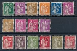 """BZ-308: FRANCE: Lot  Avec Type """"PAIX"""" **/*/obl - 1932-39 Frieden"""