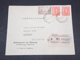 ARGENTINE - Enveloppe En Recommandé De Buenos Aires Pour Ambassade De France En 1961 - L 17277 - Argentina