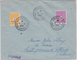 LSC - CHARLEVILLE / FOIRE EXPO / 6.6.1951 - Marcophilie (Lettres)