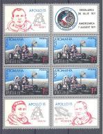 Romania  Michel #  2969 **  8-er Block Apollo 15 - Europa