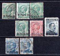 1907 - 1908 ITALY LEVANT OVERPRINTED 8x Stamps MICHEL: 6-9 USED - Buitenlandse Kantoren