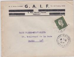 LSC - N°694  OBL. PARIS 117 / 4.1.46 - Marcophilie (Lettres)