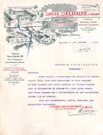 Louis Delhaize à Ransant - 1918 (superbe Illustration) - Belgique