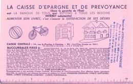 """Buvard """" La Caisse D'épargne Et De Prévoyance """" ( Taches, Pliure , 21 X 14 Cm ) - Bank & Insurance"""