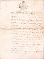 ACTE NOTARIE SUR PEAU DE 1786 DE LORRAINE ET BAR - Manuscripts