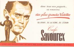 """Buvard """" Café Savourex """" ( Tache, Pliure, 20 X 13,5 Cm ) - Coffee & Tea"""