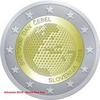 SLOVENIA 2 EURO Commemorative 2018 - World Day Of Bees - UNC - Slovenia