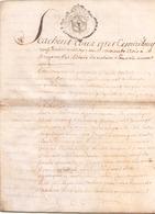 ACTE NOTARIE SUR PEAU DE 1763 DE LORRAINE ET BAR - Manuscripts