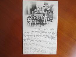 Laiterie Avec Charette . Attelage De 5 Chiens. 1898 Rare - Belgique