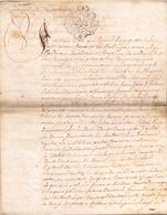 ACTE NOTARIE SUR PEAU DE 1769 DE LORRAINE ET BAR - Manuscripts