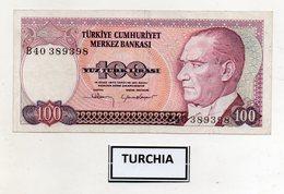 Turchia - 1970 - Banconota Da 100 Lire Turche - Usata -  (FDC9830) - Turchia