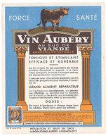 Etiquette Vin Aubéry Au Suc De Viande , Avignon  ( S. 2814 ) - Publicités