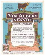 Etiquette Vin Aubéry Au Suc De Viande , Avignon  ( S. 2815 ) - Publicités