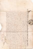 ACTE NOTARIE SUR PEAU DE 1785 DE LORRAINE - Manuscripts