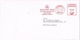 28707. Carta KASSEL (Alemania Federal) 1984. MERCEDES BENZ Franqueo Mecanico - [7] República Federal