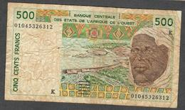 W.A.S. LETTER K SENEGAL P710Kl 500 FRANCS (20)01 FINE - West African States