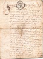 ACTE NOTARIE SUR PEAU DE 1764 DE LORRAINE ET BAR - Manuscripts