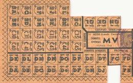 Tickets De Rationnement Denrées Diverses Février 1948 - Documents