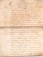 ACTE NOTARIE SUR PEAU DE 1766 DE LORRAINE ET BAR - Manuscripts