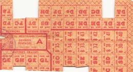 Tickets De Rationnement Denrées Diverses Janvier 1948 - Documents