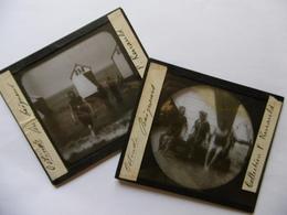 BELGIQUE OSTENDE BAIGNEURS SUPERBE PHOTO PLAQUE DE VERRE  10 X 8.5 - Glass Slides