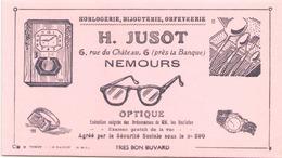 Buvard Horlogerie Jusot Nemours 21 X 13 Cm ( Pliures ) - Blotters