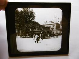 ESPAGNE BARCELONA TRAMWAY OMNIBUS PLACA CATALUNYA SUPERBE PHOTO PLAQUE DE VERRE  10 X 8.5 - Glass Slides
