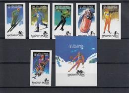 Hungary  24.11.1987 Mi # 3929-34В Bl 193В 1988 Calgary Winter Olympics IMPERF MNH OG - Winter 1988: Calgary